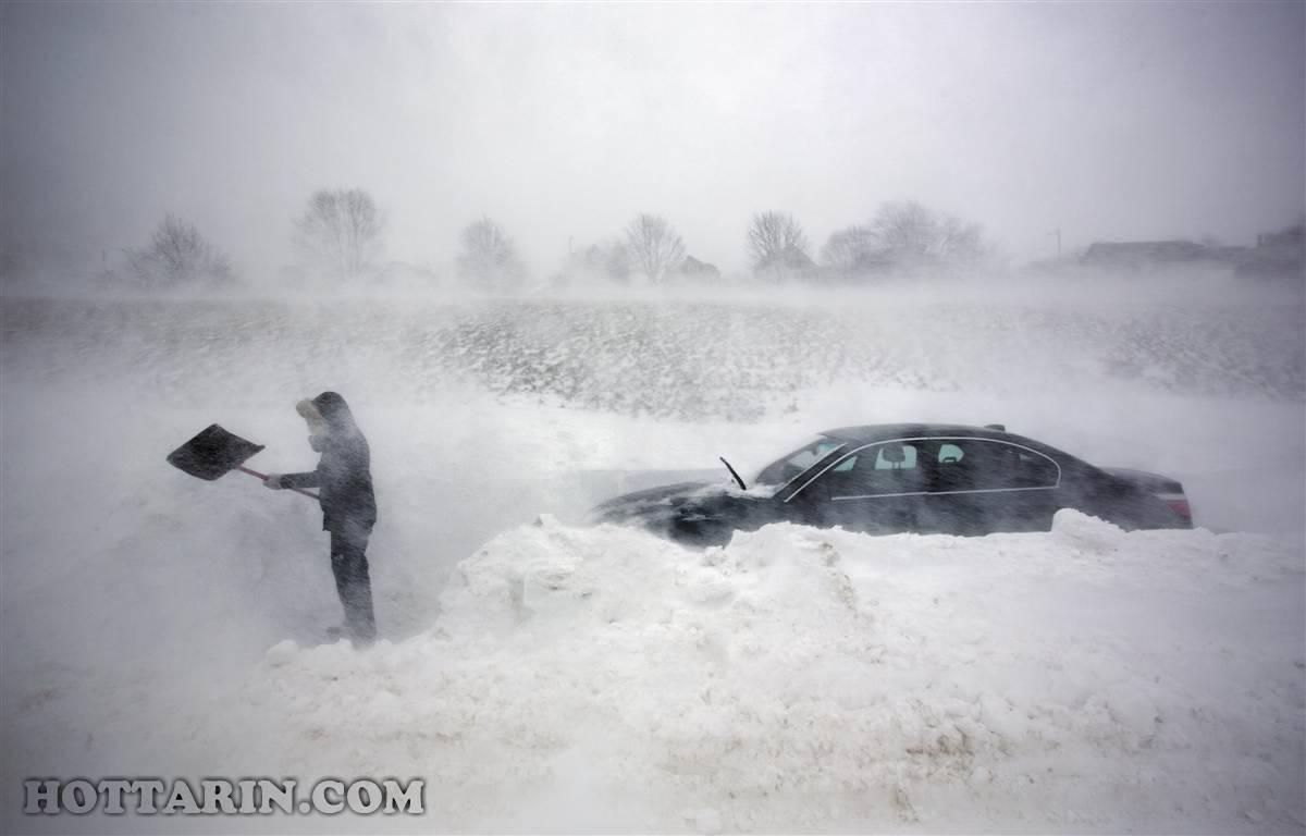 برف در پورتلند