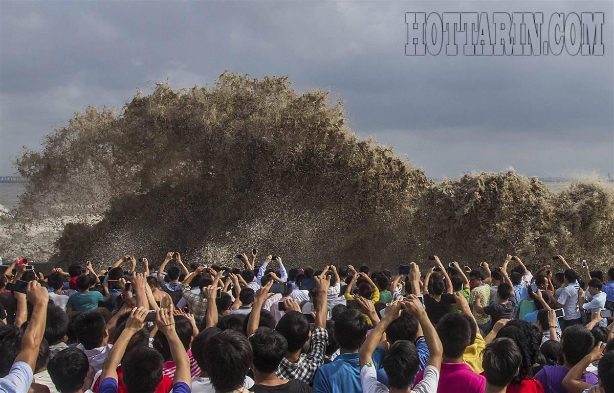 امواج جزر و مدی تحت تاثیر گردباد