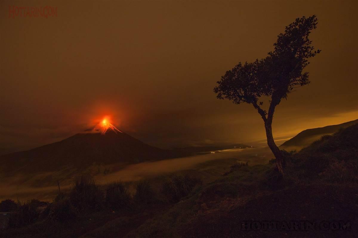 آتش فشانی در اکوادور